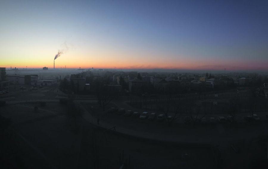 Widoczek z okna Słońce Wschódsłońca Suwałki