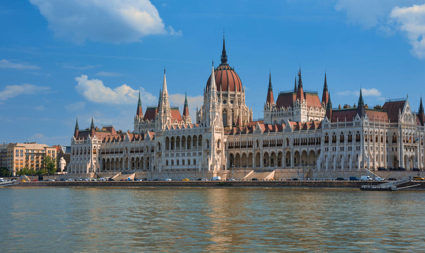 Selected For Partner Budapest, Hungary Budapest Hungary🇭🇺 Hungarian Parliament Building Hungarian Parliament Danube In Budapest Day Daytime Politics And Government City Water Government Cityscape River Sky Architecture Building Exterior Cloud - Sky Gothic Style Parliament Building