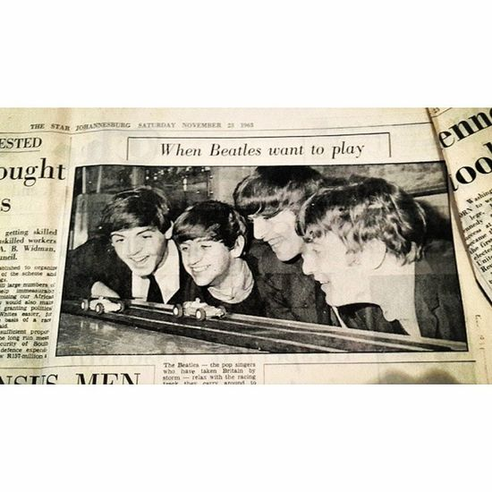 Article explaining who The Beatles were from a newspaper published in '63 Thebeatles Indie Vintage 1963 goodmusic