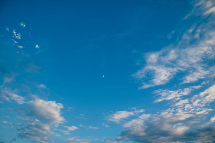 Low angle view of blue sky