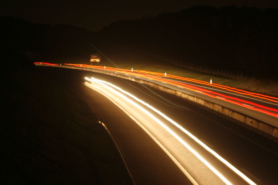 Auto Autobahn High Street Langzeitbelichtung✔ Light Trail Outdoors Road Speed Straßenbahn Traffic