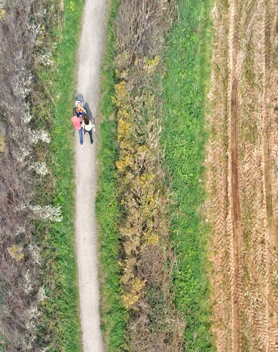 Rural path walking Walking Family Woman High Angle View Drone  Dronephotography Droneshot Drone Photography Rural Landscape Rural Scene Rural Lanscape Photography Landscape_Collection Colors colour of life Pathway Paths Men Tree High Angle View Field Sports Race Full Length Competition Grass Track Trail Narrow Walkway Farmland