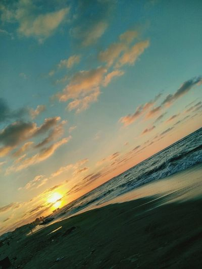 Sunset Beach Sun Sea Beauty In Nature Nature Tourism Water