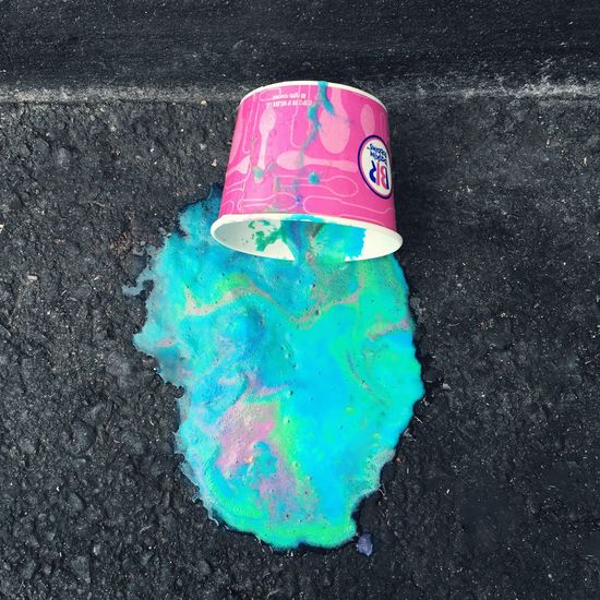 Colorful Ice Cream Spill Oops! Swirl Baskin Robbins Sugar