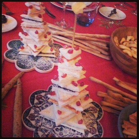 Gli alberi di Natale  di Tramezzini Christmas Food foodporn