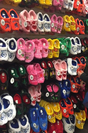 Your Amsterdam Beautifully Organized Bazar Souvenirs/Gift Shop Amsterdam Clogs House Slippers Colorful