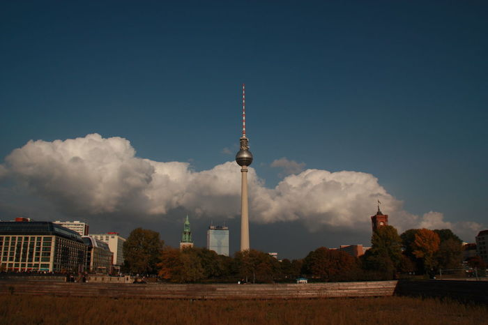 Architecture Tower Communication Travel Destinations Sky Cloud - Sky City Outdoors No People Dramatic Sky Berlin Berlin Photography Clouds And Sky Upcoming Storm Thunderstorm TV Tower Alexanderplatz Powerful Nature Cityscape The Week On EyeEm Berlin Love EyeEmNewHere Discover Berlin