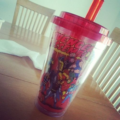 My little brothers new cup. I gotta say that I'm pretty jealous right now ? AvengersAssemble Oldschoolmarvel SoJealous AwesomeSauce