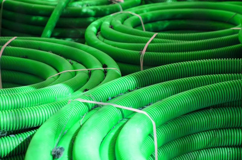 Full frame shot of green pipes