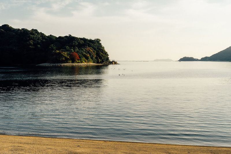 Calm Sea Sea Beauty In Nature Island Travel Nature Waterfront Setouchi Sea Seto Water Sky Cloud - Sky November November 2016 Beach 坂越 生島 Autumn