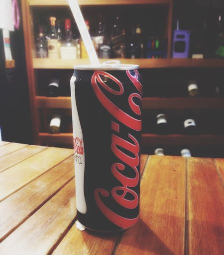 Coca Cola Zero Can Drinking Relax Moments Coke Black & Red  Letters