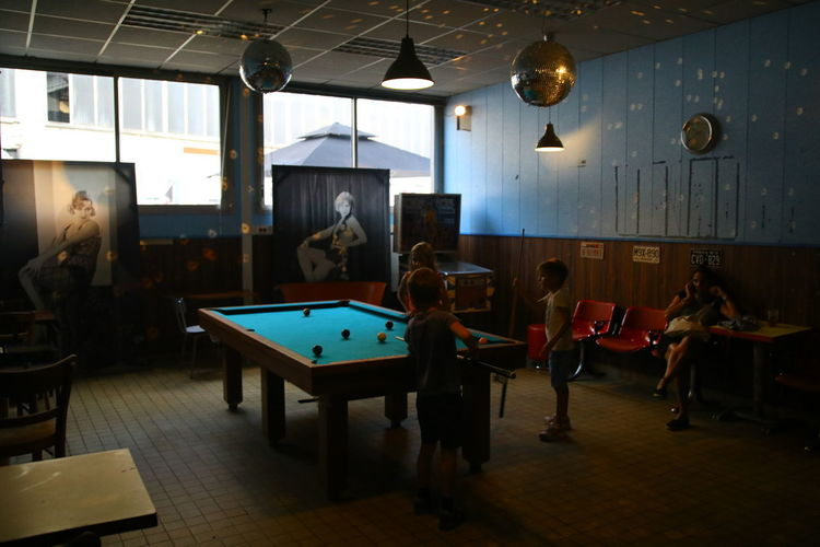 Day Group Of People Illuminated Indoors  Large Group Of People Leisure Activity Men People Pool - Cue Sport Pool Ball Pool Table Real People Table Women