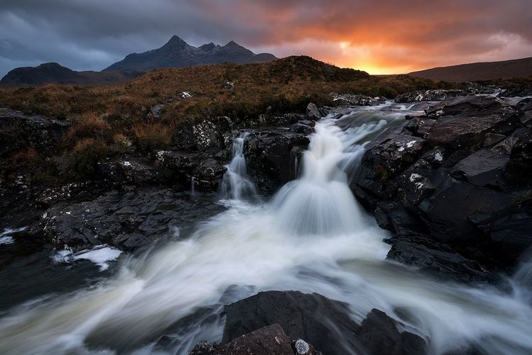 Sligachan, Isle of Skye Scotland 💕 Nature Long Exposure Mountain Range Water Outdoors Nikon Landscape No People Beauty In Nature Waterfalls Travel Destinations Sunset Mountain Motion Waterfall Fog Blurred Motion Social Issues Night Scenics Awe Snow Speed