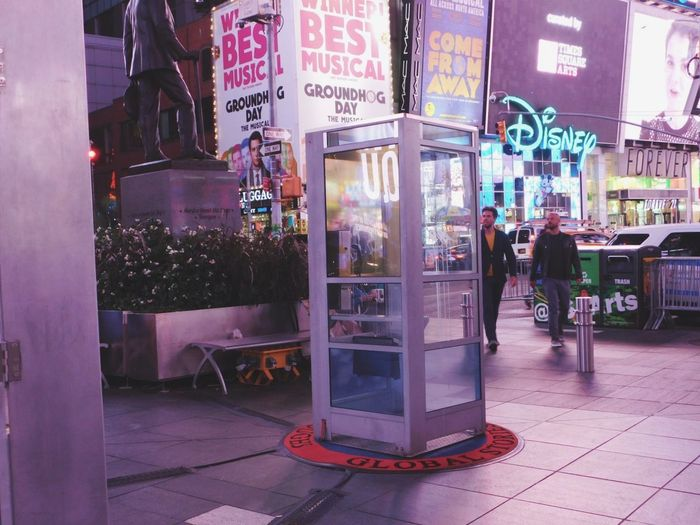 Is anyone there ? Telephone Booth City