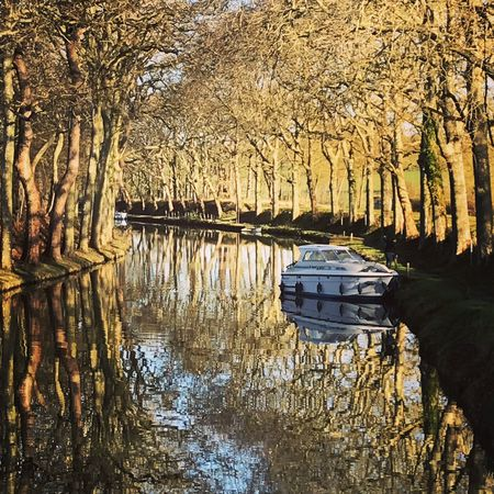 Water Reflection Mode Of Transportation Transportation Nautical Vessel No People Nature Tree Tranquility Beauty In Nature