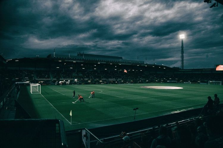 Rotterdam Sport Playing Field Cloud - Sky Stadium Playing Soccer Sky Floodlight Soccer Field Sportsman Large Group Of People Competition Teamwork Sports Clothing Architecture Real People Spectator Baseball Player Outdoors Baseball - Sport