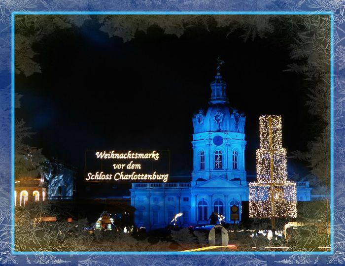 Xmas Market at the Charlottenburg Palace in Berlin - Weihnachtsmarkt Schloss Charlottenburg Night Night Lights