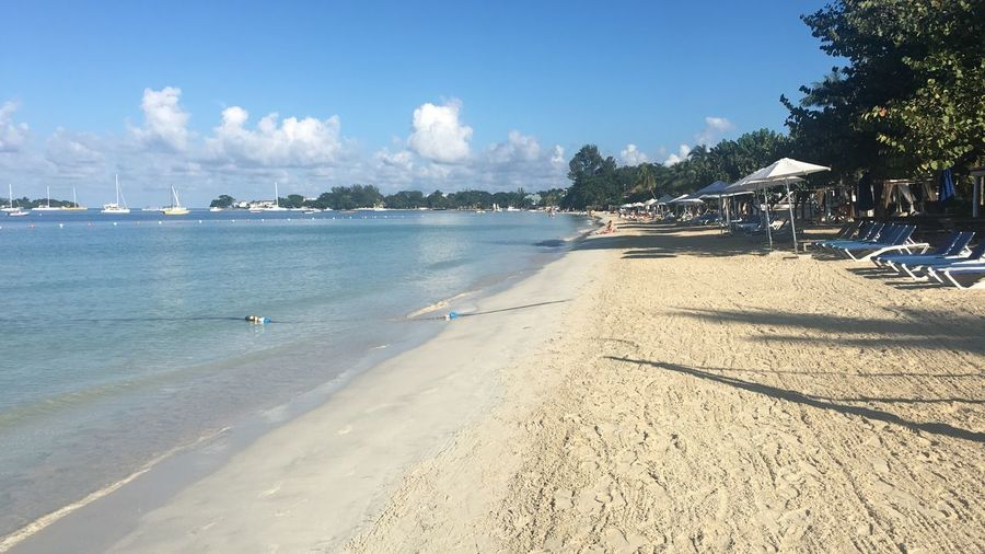 Beach Sand Sea Shore Sky Water Nature Tranquility Incidental People Tree Day Sunlight Beauty In Nature Outdoors Scenics Summer Blue Tranquil Scene Shadow Nautical Vessel Be. Ready. Jamaica Negril Seven Mile Beach Waterfront Be. Ready.