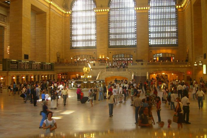 Architecture Built Structure City Life Grand Central Station Manhattan New York City People Reisende Travel Destinations Wartehalle