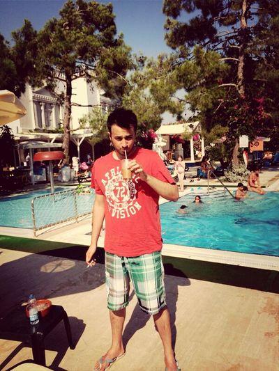 Summer Pool Holiday Enjoying Life