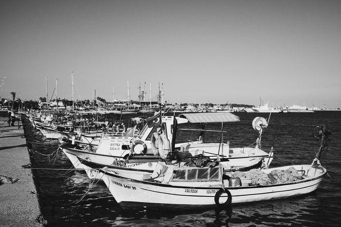 Black & White Ships Tasucu Limani Mersin Turkey