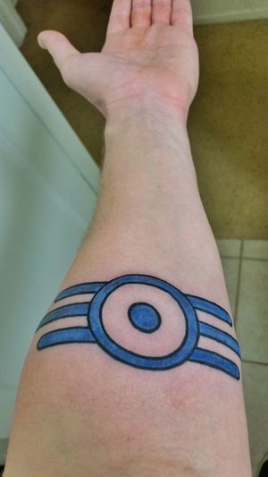 Tattoo Blue Fallout Fallout 4 Got the Vault Tec logo today!