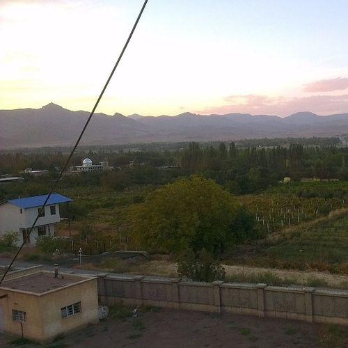 View Sunset Nazlu Nazloo urmia university dormitory mountain autumn fall نازلو دانشگاه اروميه غروب گون باتيمي پاييز آذربايجان