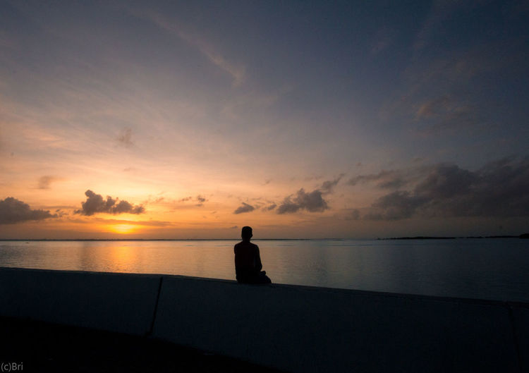 Sea Silhouette Horizon Over Water Sun Sky Landscape Outdoors Sonya6000 Tranquility Dramatic Sky