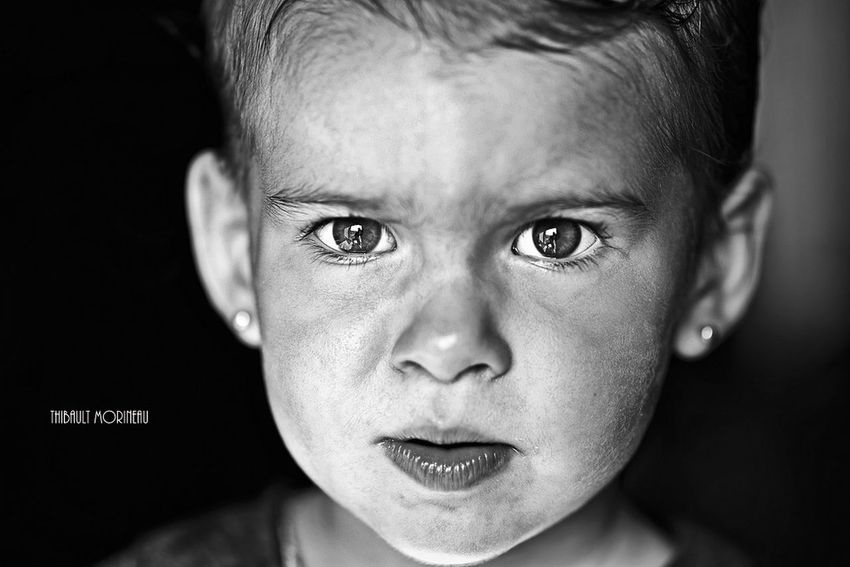 Noiretblanc Blackandwhite Close-up Human Face Portrait Person Serious Toddler  Looking At Camera Portraitphotographer Baby Photography Kids Face ArtWork Like4follow France🇫🇷 F4F Portrait_shots Babyface Babygirl Portrait Photography Photoftheday Artistic Expression Art Artworks