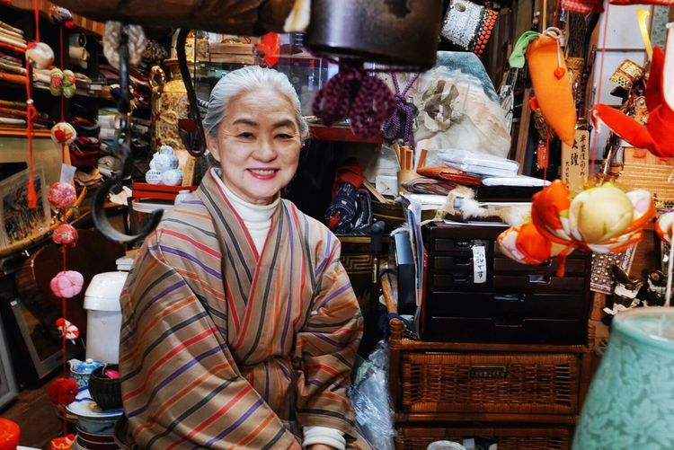 I visited a small seaside town of Atami, an hour by train from Tokyo. In one of the antique shops, I met with the owner and I became a believer that attitude, rather than physical appearance, is the recipe for happiness and it shows in our face. Growing Old Gracefully Smiling Antique Shop Seaside Town Japanese Culture Japan Photography