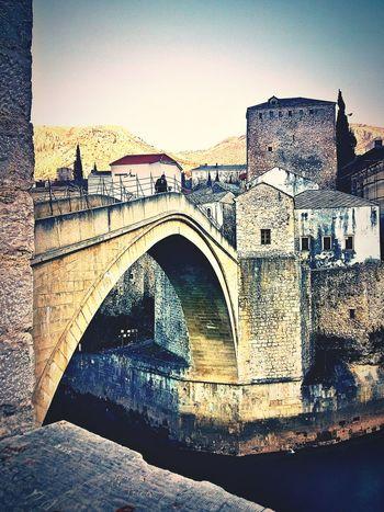 Old Bridge Old Town Mostar Bosnia And Herzegovina UNESCO World Heritage Site 16 Century Ottoman Architecture 1566