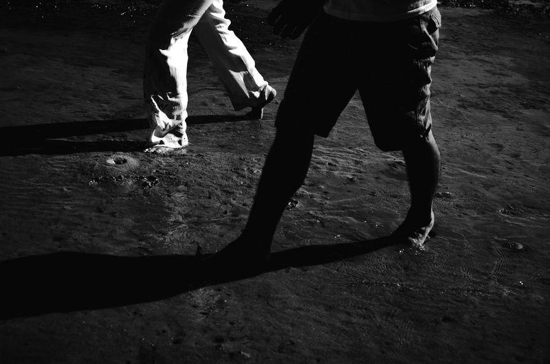 Blackandwhite Photography Day EyeEm BlackandWhite Outdoors Shore Togetherness Walking