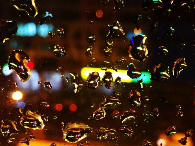 雨。夜 Life City 城市城事 Street 街 夜 Rain 雨 雨天 窗 水珠