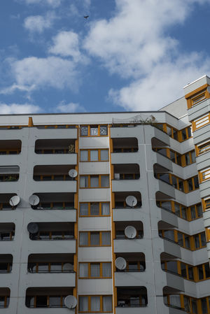 Berlin Apartment Architecture Building Exterior Built Structure City City Life Cloud - Sky Day Germany Low Angle View No People Outdoors Residential District Sky Sunlight