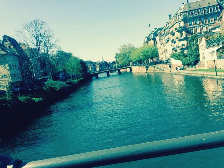 Beautiful rivers in Strasbourg. Lovely time for a cruise and tanning 👌 Strasbourg River Riverside Beautiful Exchange France 2015