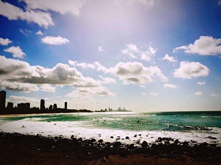 Surf Surf's Up Waves And Rocks Waves, Ocean, Nature Waves Crashing Burleigh Heads Sunset #sun #clouds #skylovers #sky #nature #beautifulinnature #naturalbeauty #photography #landscape Sunshine ☀ Sunshine