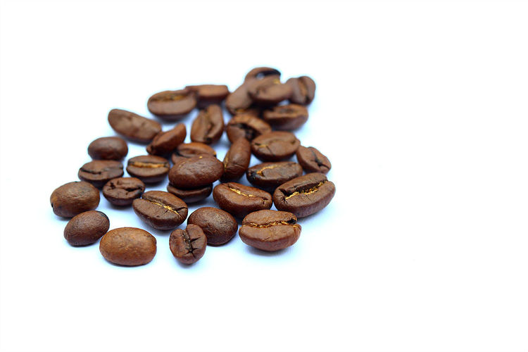 Coffee beans isolated on white background Aroma Beans Beverage Brown Caffè Chef Close-up Coffee Coffee Beans Details Details Textures And Shapes Drink EyeEm EyeEm Best Shots Food Food And Drink Food Photography Gourmet Isolated No People Plant Roasted Shape Studio Shot White Background