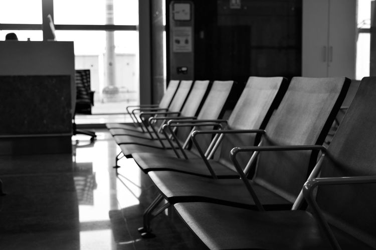 Once in a while give yourself 'me' time and prioritize things in life. Focus on important areas. Absence Architecture Chair Empty Flooring Furniture In A Row No People Repetition Seat Airport Bangalore