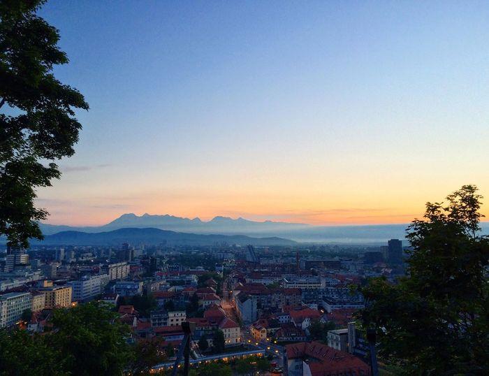 Ljubljana Sunrise View Castle Morning City Nature Walking Sky