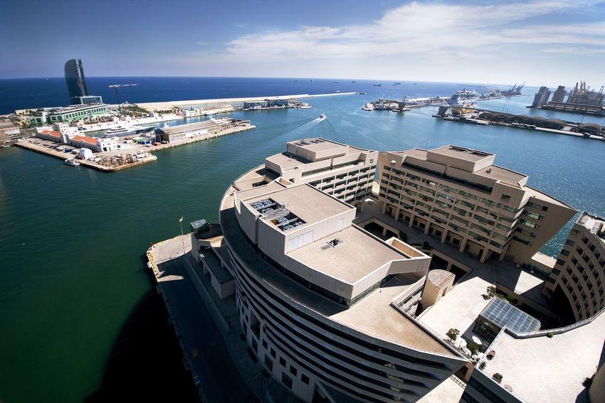 SPAIN City Cityscapes Barcelona Sea DmitryBarykin