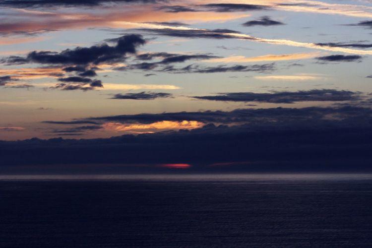 Ault Onival Baie De Somme  Coucher De Soleil Mer Sea Nuages Marée Basse Manche Soleil