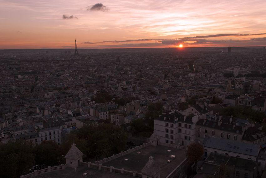 City Cityscape Sky Sunset Landscape Travel Destinations Horizon Paris Travel Discover  Love France