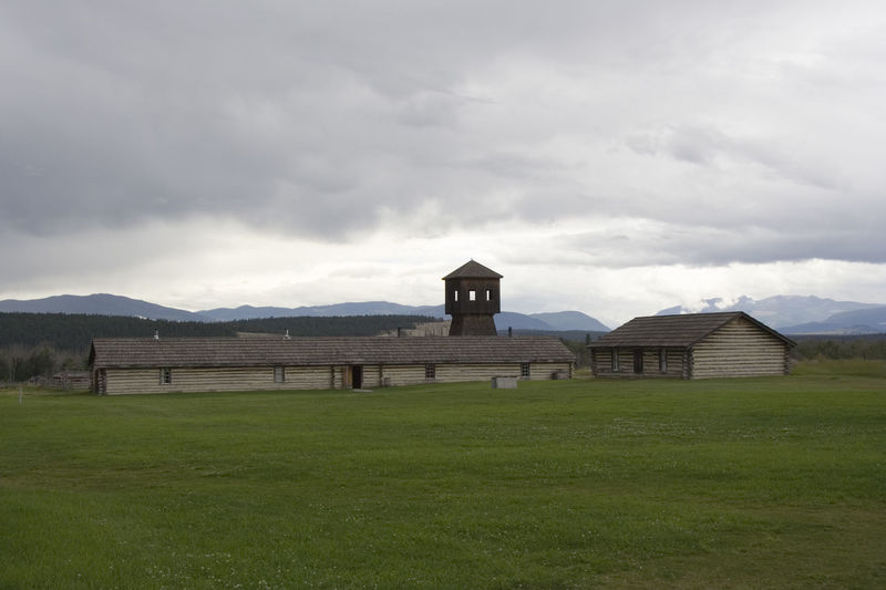 antique fort with a defense tower Architecture Architecture Army Barn Building Building Exterior Built Structure Canada Cottage Fort Fortification Fortress History House Log Cabin Military No People Old Old Buildings Residential Building Stronghold Timber Wild West Wooden Camp