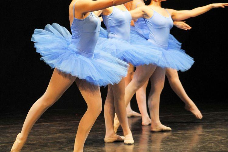 Ballet Dancers Performing On Stage