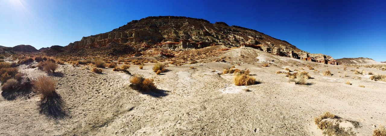 EyeEm Selects Red Rock Canyon State Park California Rock - Object Rock Formation Nature Geology Physical Geography Clear Sky Beauty In Nature Travel Destinations Arid Climate Desert EyeEmNewHere Eyeemphoto Panorama