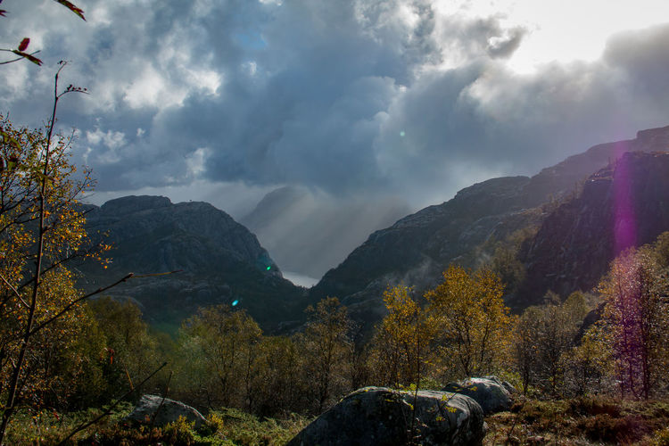 Autumn Beauty In Nature Cloud - Sky Contrast Danger Day Dramatic Sky Landscape Mountain Mountain Range Nature No People Outdoors Rain Scenics Sky Tranquil Scene Tranquility Tree Water Weather The Great Outdoors