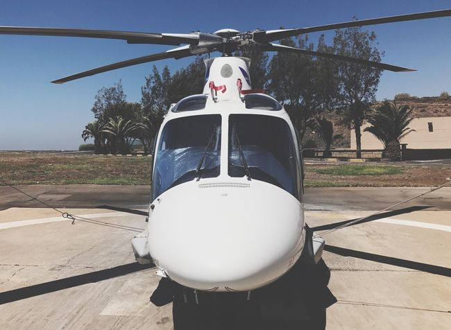 Helicopter Medical Air Vehicle Servicio Canario Urgente EMS Tes Rescue Airport Emergency Tenerife Canary Islands SPAIN