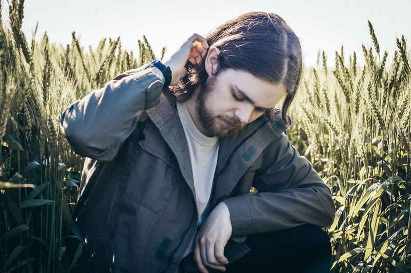 One Man Only Only Men Mid Adult Beard Mid Adult Men Adults Only Adult One Person Outdoors Casual Clothing Nature Cereal Plant People Rural Scene Men Field Sky Agriculture Day Portrait Summer Human Face Front View Skill  One Young Man Only