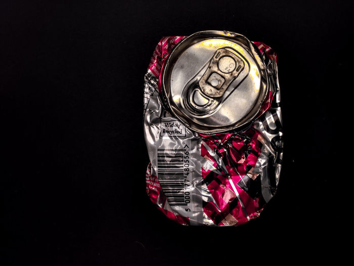 Can Crumpled Food And Drink Aluminium Can Aluminum Black Background Can Close-up Container Copy Space Crushed Cut Out Drink Drink Can Indoors  Luxury Metal No People Recycling Shiny Silver Colored Single Object Still Life Studio Shot