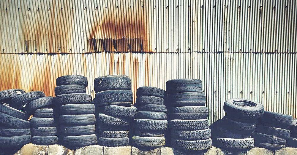 Close-up of car tires